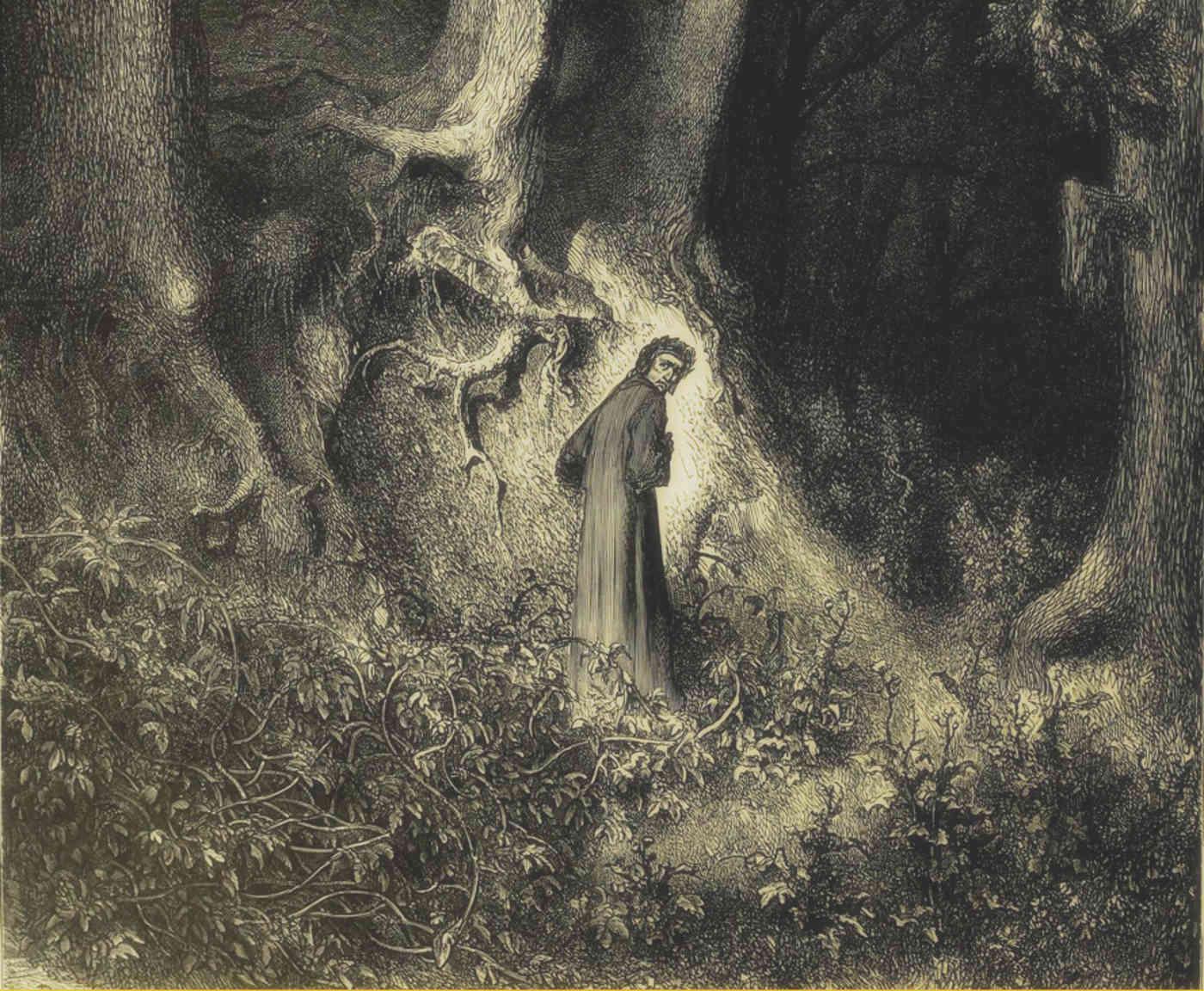 Dante im Wald